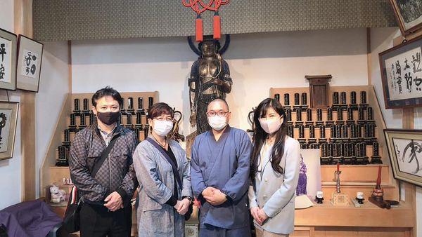 志賀島の荘厳寺へ視察
